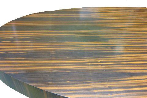 zebra wood table - How To Refinish Wood Table